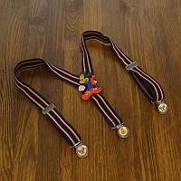 Bow Tie House™ Подтяжки детские черные в полоску с красным Микки