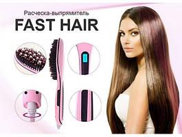 Электрическая расческа выпрямитель Fast Hair Straightener HQT-906 с дисплеем