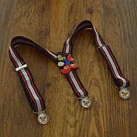 Bow Tie House™ Подтяжки детские в красную полоску с красным Микки