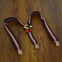 Bow Tie House™ Подтяжки детские в красную полоску с активным Микки