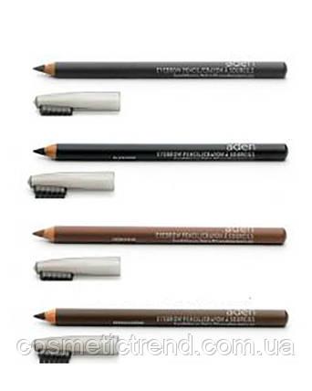 Карандаш для бровей водостойкий Eyebrow Pencil Grey Aden cosmetics, фото 2