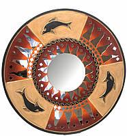 Зеркало мозаичное Дельфины (50 cм)
