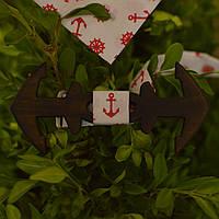 Bow Tie House™ Бабочка деревянная в форме якоря красная