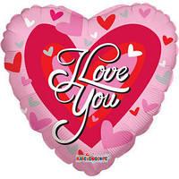 Гелиевый шар Сердце 614 Любовь Сердце красное большое 18/45см , арт. 19122-18