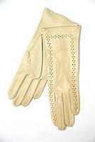 """Перчатки кожаные женские """"Alpa gloves"""" без подкладки бежевые"""
