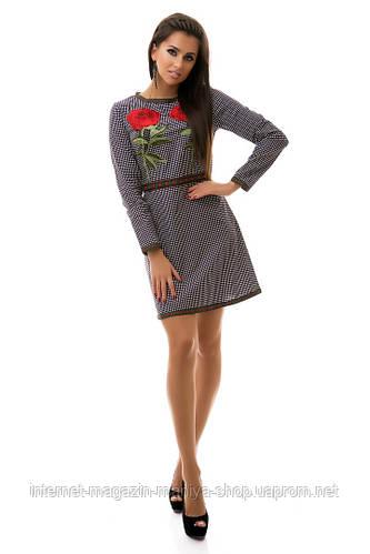 Платье женское коттон с розой
