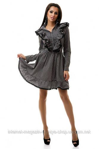 Платье женское коттон с кружевом
