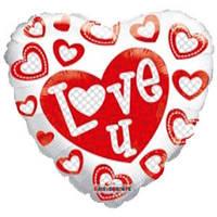 Гелиевый шар Сердце 660 Любовь Я тебя люблю белое 18/45см , арт. 19401-18