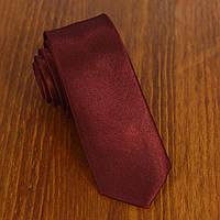 Галстук мужской узкий бордовый Bow Tie House™