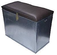 Ящик для зимней рыбалки из оцинковоной стали с наплечным ремнем