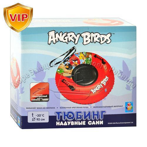 Детские надувные сани-тюбинг Angry Birds MS 0534.