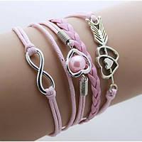 Bow Tie House™ Браслет розовый сердечками