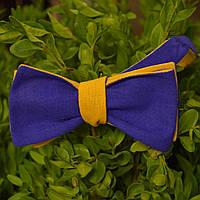 Галстук-бабочка мужская самовяз с флагом Украины двухсторонняя