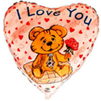 Гелиевый шар FM Сердце И-19 LOVE BEAR 18 201534