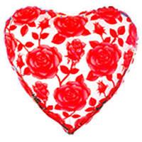 Гелиевый шар FM Сердце И-4 ROSES FUCHSIA NO METALLIC 18 201520F