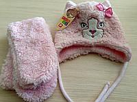 Шапка и шарф для девочки зима