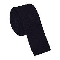 Галстук мужской крупной вязки черный Bow Tie House™