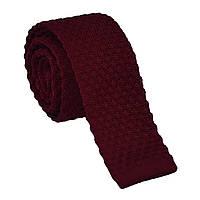Галстук мужской крупной вязки бордовый Bow Tie House™