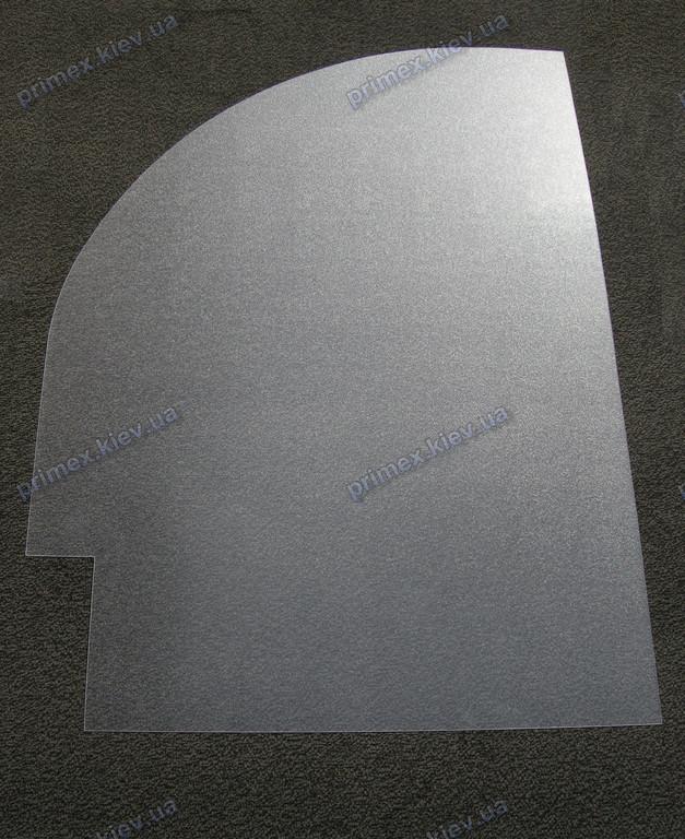 Изготовление защитного прозрачного ковра под кресло с округлостью