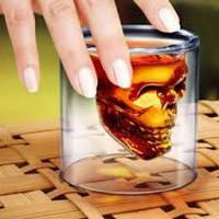 Стакан чашка рюмка череп DOOMED, оригинальный подарок