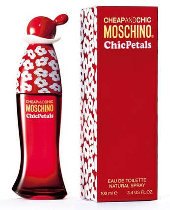 Moschino Cheap & Chic Chic Petals туалетная вода 100 ml. (Москино Чип Энд Чик Чик Петалс), фото 2
