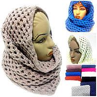 Женский шарф-хомут 303,  разные цвета