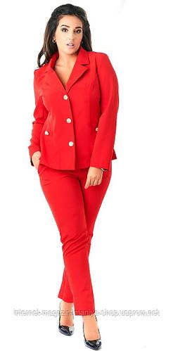 Костюм  женский полубатал пиджак+брюки