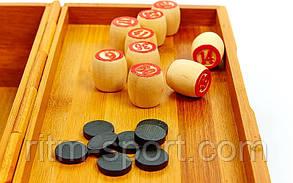 Лото в бамбуковой коробке (24 * 13 * 9,5 см), фото 2
