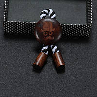 Bow Tie House™ Брошка: Джентльмен - коричневая (черно-белая нить)