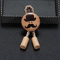 Bow Tie House™ Брошка: Джентльмен - бежевая (бело-коричневая нить)