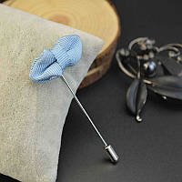 Bow Tie House™ Приколка на пиджак в виде маленькой бабочки голубого цвета