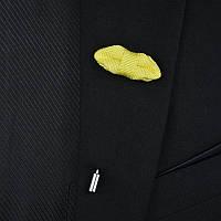 Bow Tie House™ Приколка на пиджак в виде маленькой бабочки желтого цвета