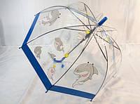 Детские прозрачные зонты № 009 с мультяшными рисунками