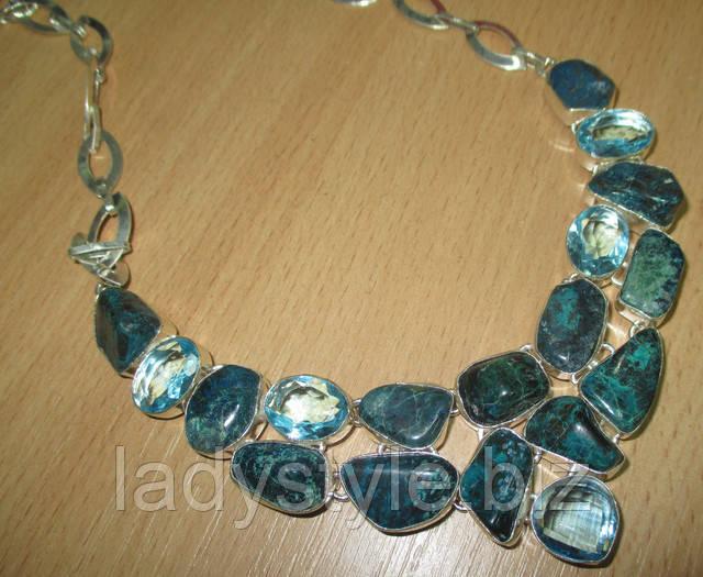 купить серебряный кулон хризоколла элатский камень украшения