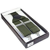 Подтяжки цвета хаки в подарочной коробке Bow Tie House™
