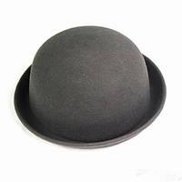 Шляпа серая фетровая Боулер Дерби Котелок