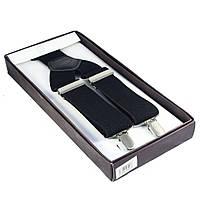 Подтяжки черные в подарочной упаковке Bow Tie House™