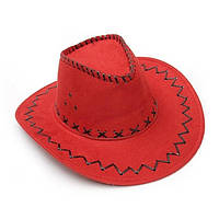 Шляпа красная ковбойская Cowboy hat