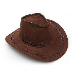 Шляпа темно-коричневая ковбойская Cowboy hat