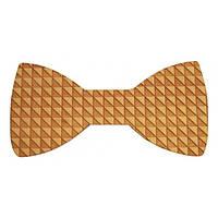 Bow Tie House™ Деревянная бабочка на магните текстурная в треугольники
