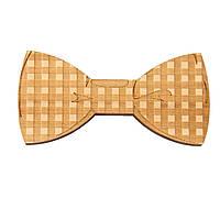 Bow Tie House™ Деревянная бабочка на магните текстурная квадрат