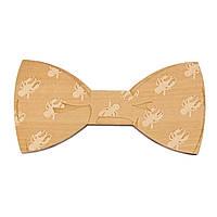 Bow Tie House™ Деревянная бабочка на магните текстурная с крабиками