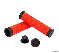 Грипсы Green Cycle GC-G49, 125 мм, красно-черные