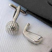 JASON&VOGUE Запонки клюшка и мяч для гольфа