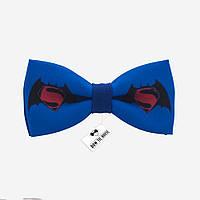 Бабочка мужская синяя Бэтмен против Супермена