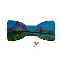 Деревянная мужская бабочка с изображением Сан-Франциско Golden Gate