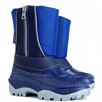 Детские зимние сноубутсы Demar Cristal синие р.24-25 теплющие и непромокаемые