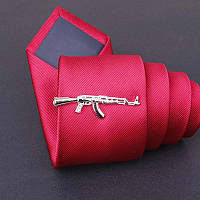 Bow Tie House™ Зажим для галстука автомат Калашникова - серебристый