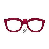Bow Tie House™ Бабочка деревянная в форме очков - красная