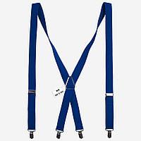Польша Подтяжки синие X2.5 см длинные